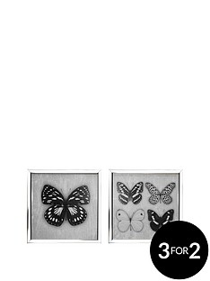 arthouse-set-of-2-butterfly-prints-in-mirror-frames