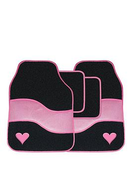 streetwize-accessories-velour-pink-with-heart-motif-car-mat