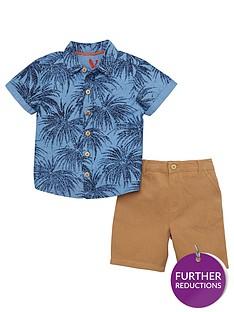 mini-v-by-very-boys-palm-print-shirt-amp-chino-set