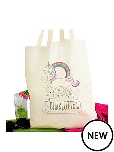 personalised-unicorn-tote-bag