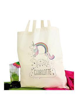 personalised-unicorn-tote-bag