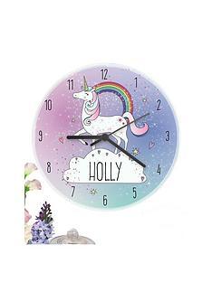 personalised-unicorn-clock