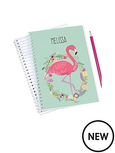 personalised-flamingo-notebook