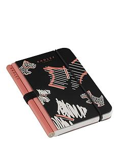 radley-mini-notebook-with-pencil-black