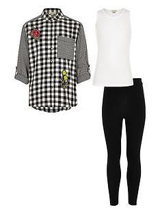 river-island-girls-black-shirt-top-and-leggings-set