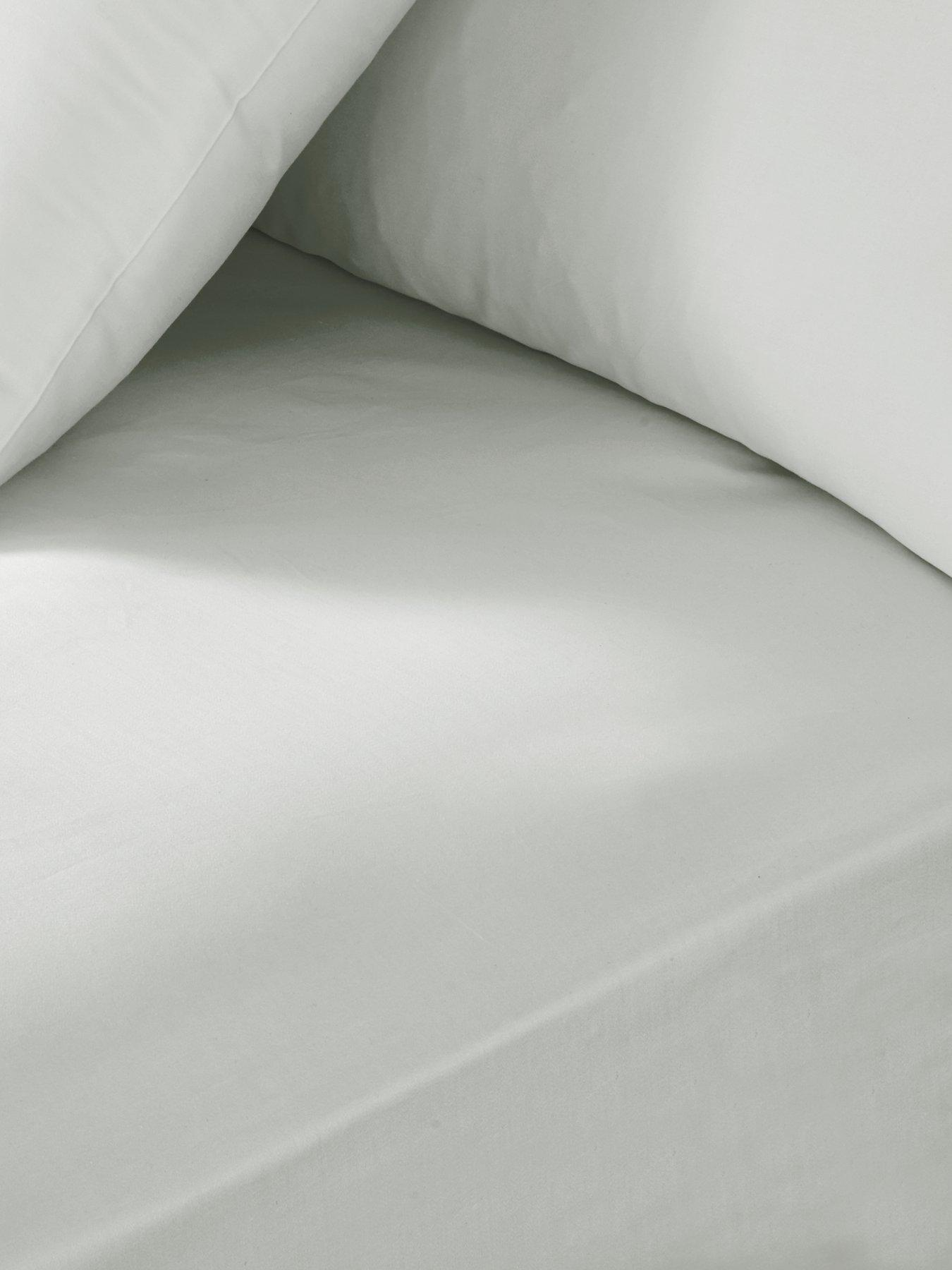 "Fitted Bed Sheet Extra Deep Non Iron PERCALE 180 TC 12/"" 30 cm  Depth 12 COLOURS"