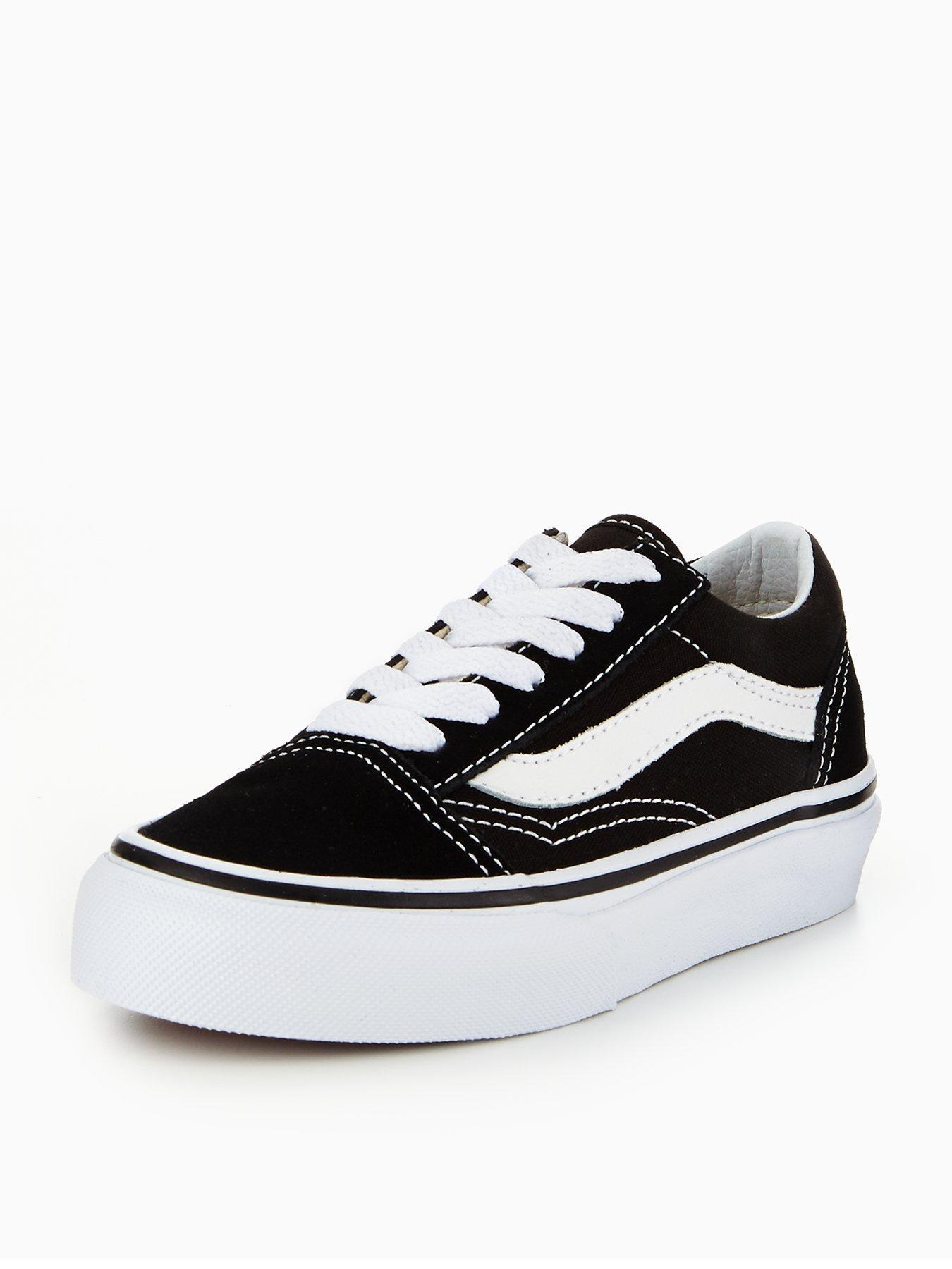 junior black and white old skool vans