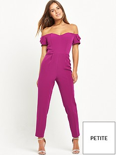 miss-selfridge-petite-structure-bardot-jumpsuit-coral