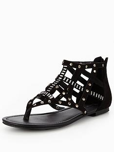 v-by-very-north-caged-stud-flat-sandal-black