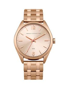 french-connection-french-connection-rose-gold-sunray-dial-rose-gold-tone-stainless-steel-bracelet-ladies-watch