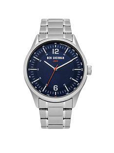 ben-sherman-navy-sunray-dial-silver-stainless-steel-bracelet-mens-watch