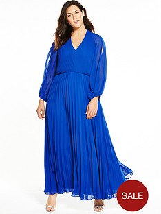 v-by-very-curve-cold-shoulder-pleated-maxi-dress