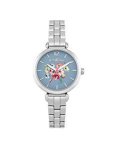 cath-kidston-mallory-bunch-blue-matte-printed-dial-silver-t-bar-bracelet-ladies-watch
