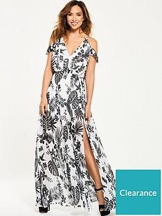 73cbcfba4e Myleene Klass Cold Shoulder Tropical Maxi Dress