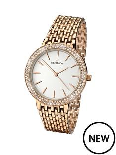 sekonda-sekonda-white-dial-stone-bezel-rose-tone-bracelet-ladies-watch