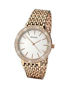 sekonda-white-dial-stone-bezel-rose-tone-bracelet-ladies-watch