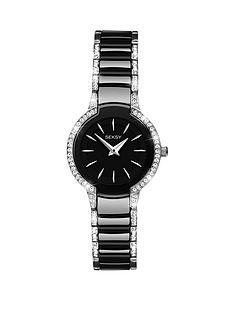 seksy-seksy-black-dial-stone-bezel-black-bracelet-ladies-watch