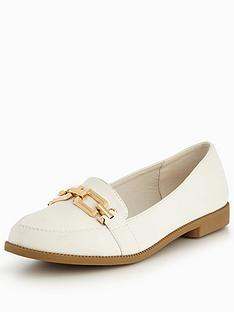 v-by-very-mandy-gold-trim-loafer-white