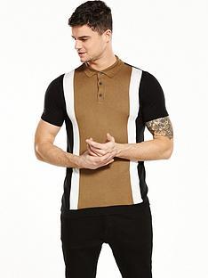 river-island-colour-block-short-sleeve-polo