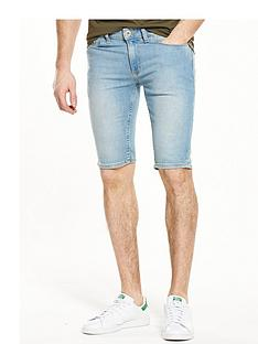 river-island-skinny-fit-denim-shorts