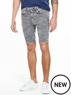 river-island-camo-print-skinny-denim-shorts