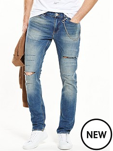 river-island-skinny-fit-distressed-jeans-with-chain