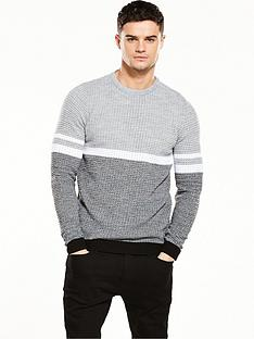 river-island-textured-stripe-jumper