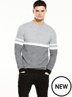 river-island-textured-stripe-jumper