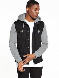 river-island-jersey-sleeve-denim-jacket