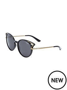 vogue-round-cateye-cutout-sunglasses
