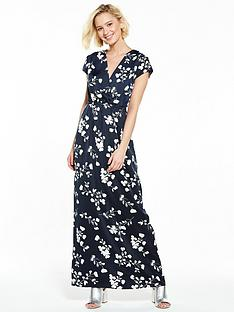 vila-elaine-cap-sleeve-maxi-dress-total-eclipse