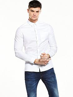 river-island-long-sleeve-oxford-skinny-shirt