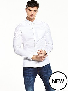 river-island-long-sleeve-oxford-skinny-shirt