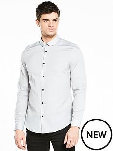 river-island-long-sleeve-slim-fit-dobby-print-shirt