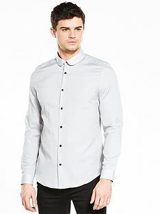 river-island-slim-fit-dobby-print-shirt