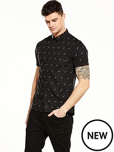 river-island-short-sleeve-guitar-print-shirt