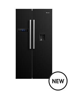 swan-sr70110b-90cm-american-style-double-door-fridge-freezer-with-water-dispenser--nbspnext-day-delivery-black