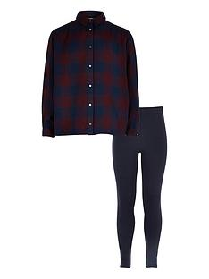river-island-girls-check-shirt-and-leggings-set