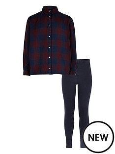 river-island-girls-check-shirt-and-leggings-set
