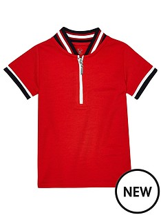 river-island-mini-boys-tipped-zip-polo-shirt