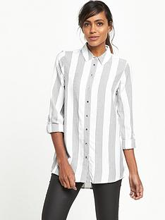 river-island-casual-stripe-shirt-grey-stripe