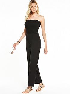v-by-very-strapless-shirred-top-jumpsuit-black
