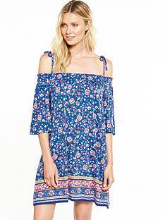 v-by-very-bardot-tie-shoulder-swing-dress