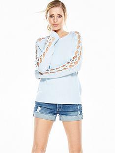 vero-moda-sacremento-cable-knit-jumper-chambray