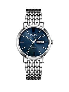 rotary-rotary-windsor-swiss-movement-blue-dial-stainless-steel-bracelet-mens-watch