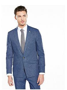 river-island-linen-slim-fit-suit-jacket