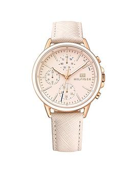 tommy-hilfiger-carly-blush-mutli-dial-blush-leather-strap-ladies-watch