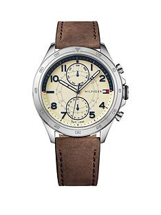 tommy-hilfiger-tommy-hilfiger-hudson-cream-multi-dial-brown-leather-strap-mens-watch