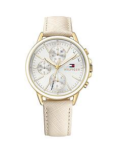 tommy-hilfiger-carly-silver-tone-multi-dial-nude-leather-strap-ladies-watch