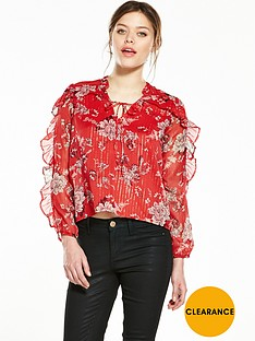 river-island-floral-print-frill-blouse
